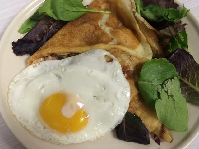 Tartiflette Crepe with egg