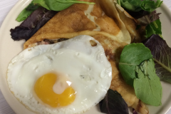Tartiflette Crepe with egg