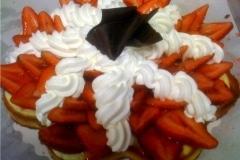 Chantilly strawberry tart