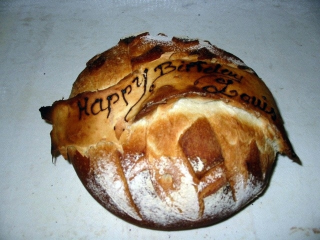 Decorated bread
