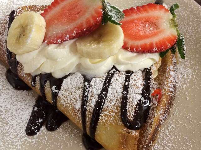 Strawberry Banana Crepe