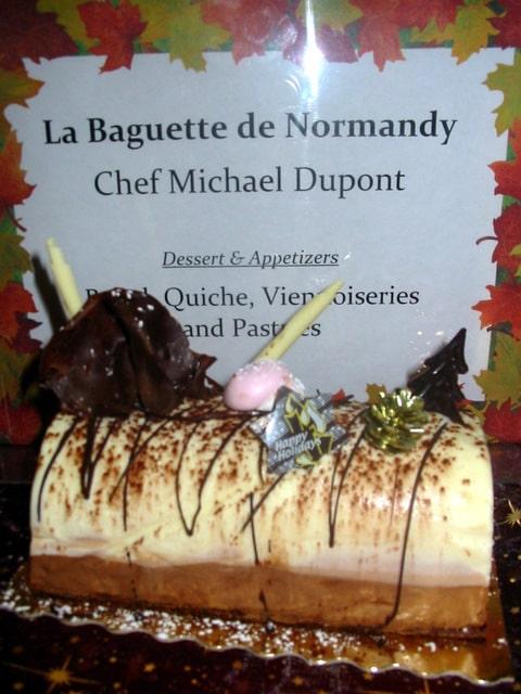 Three Chocolate Bûche
