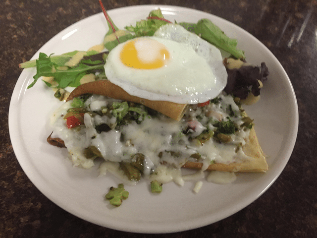 Crepe with egg