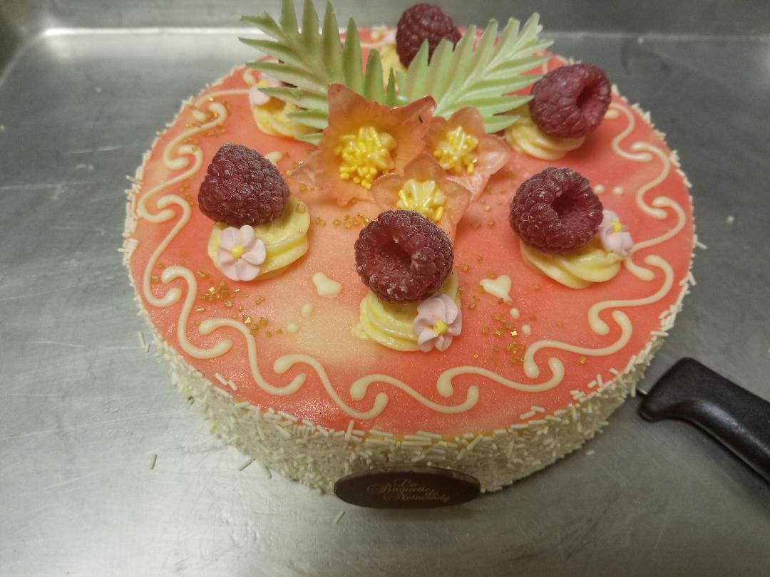 Framboisier cake 6p
