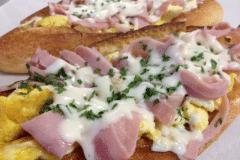 Hot sandwich omelette