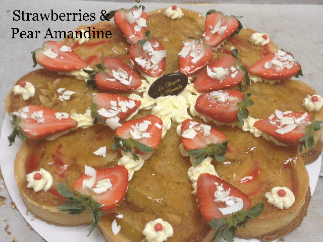 Strawberries & pear amandine