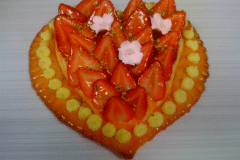 strawberrry heart tart
