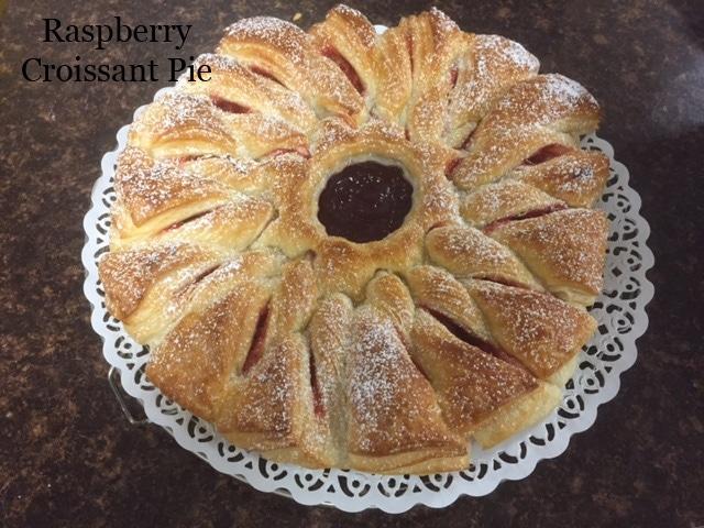 Raspberry Croissant Pie